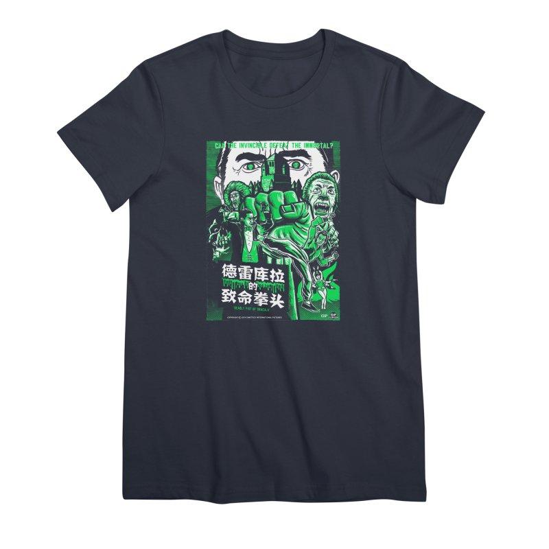 DEADLY FIST OF DRACULA Women's Premium T-Shirt by Gimetzco's Damaged Goods
