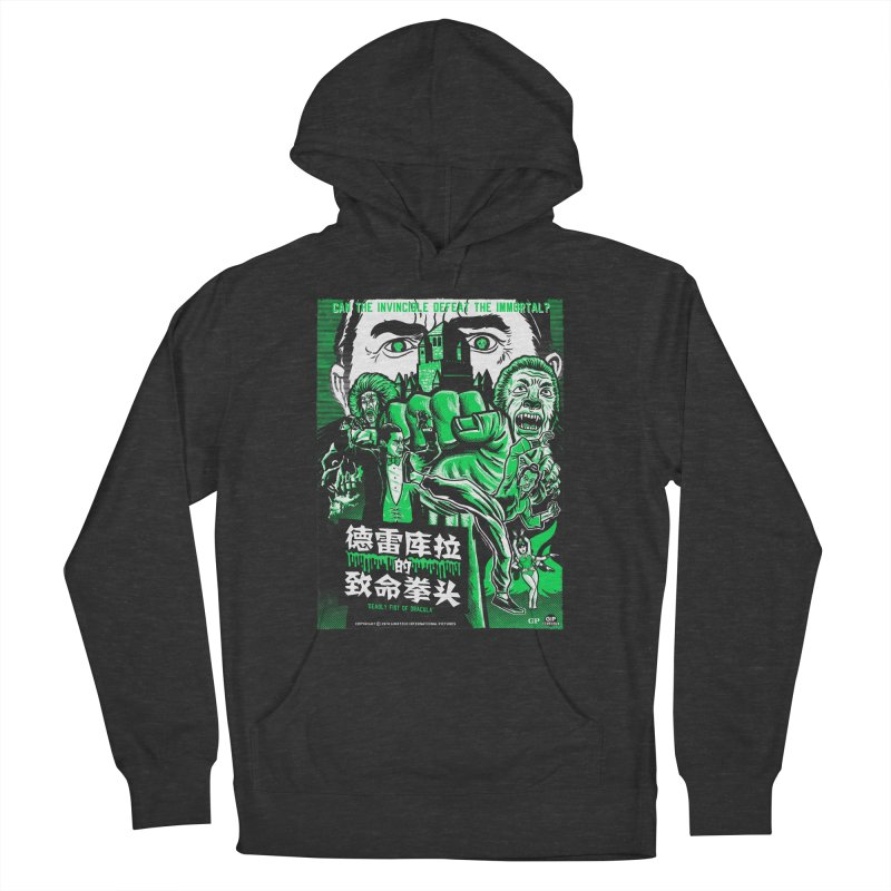 DEADLY FIST OF DRACULA Men's French Terry Pullover Hoody by Gimetzco's Damaged Goods
