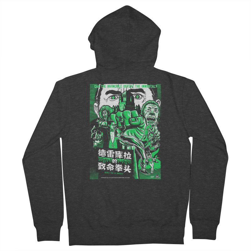 DEADLY FIST OF DRACULA Women's French Terry Zip-Up Hoody by Gimetzco's Damaged Goods