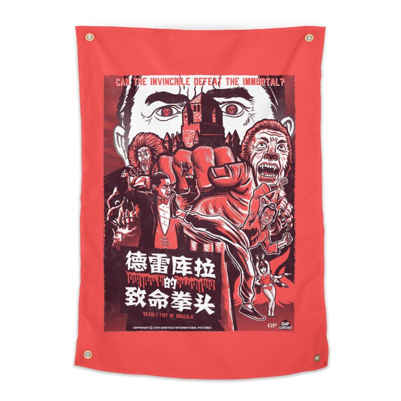 DEADLY FIST OF DRACULA Home Tapestry by Gimetzco's Damaged Goods