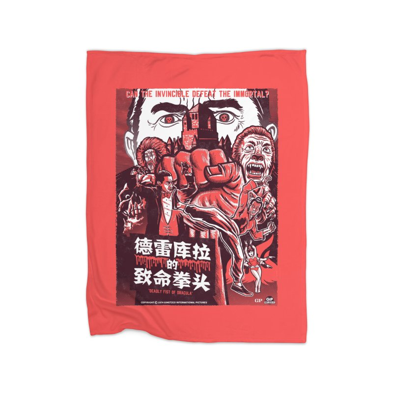DEADLY FIST OF DRACULA Home Blanket by Gimetzco's Damaged Goods