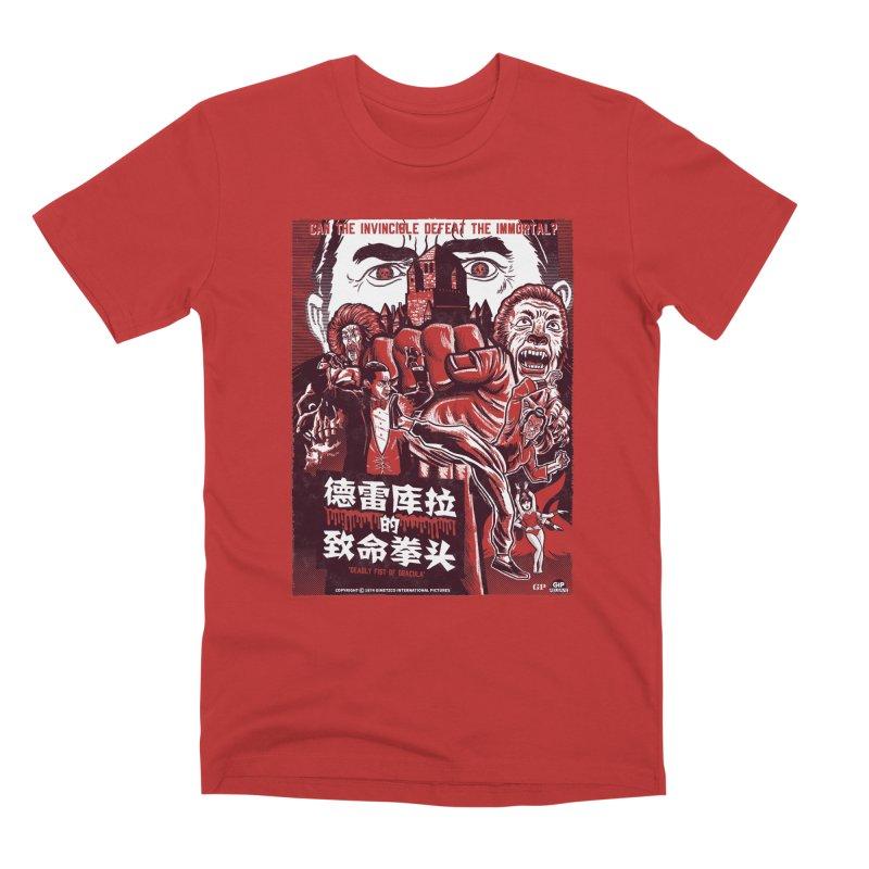 DEADLY FIST OF DRACULA Men's Premium T-Shirt by Gimetzco's Damaged Goods