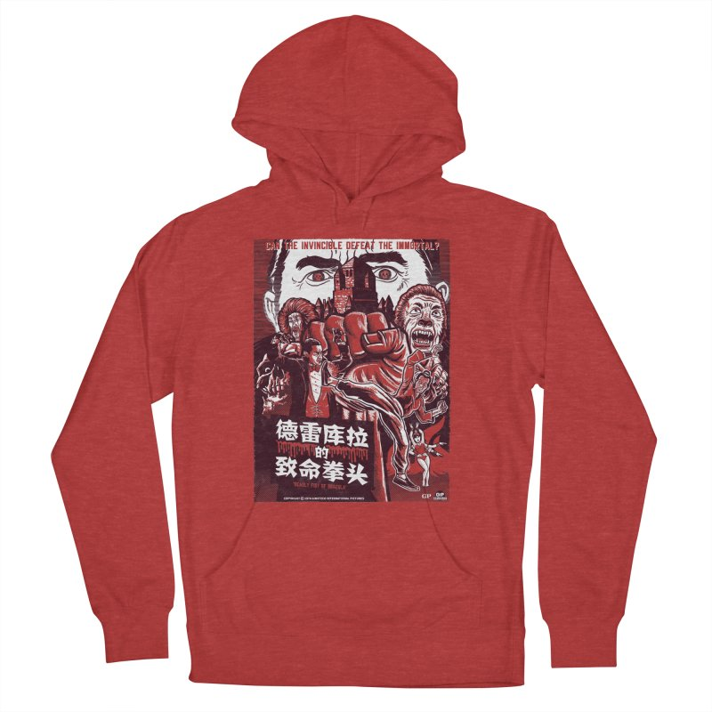 DEADLY FIST OF DRACULA Women's French Terry Pullover Hoody by Gimetzco's Damaged Goods