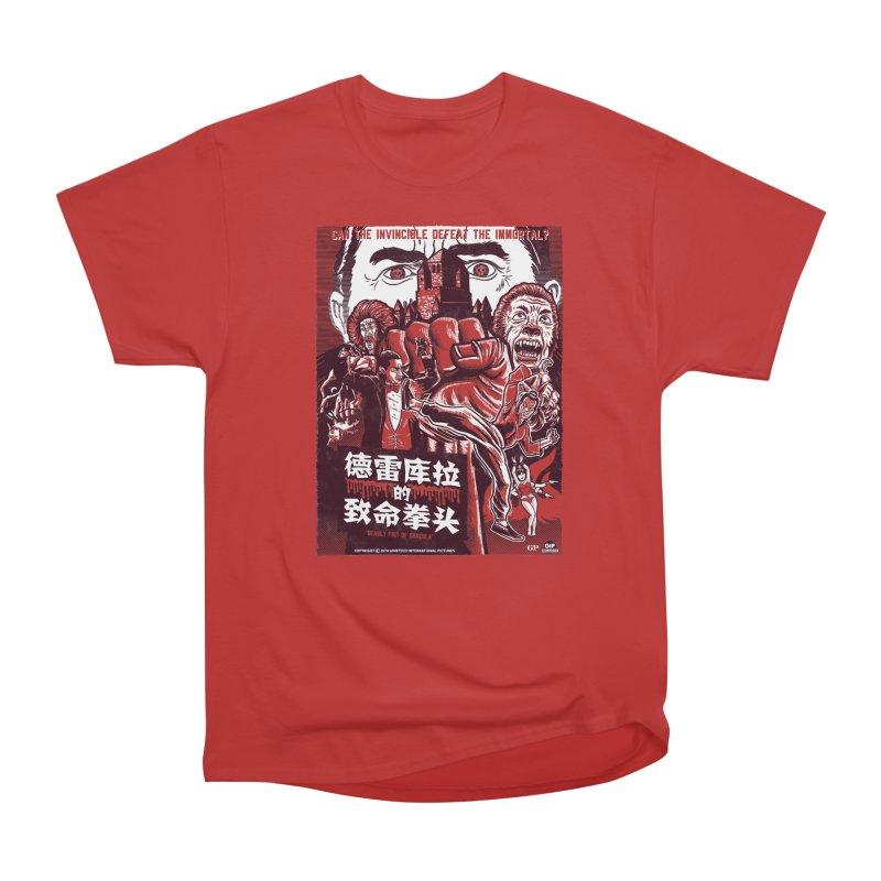 DEADLY FIST OF DRACULA Women's Heavyweight Unisex T-Shirt by Gimetzco's Damaged Goods
