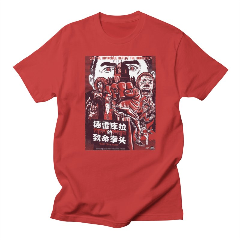 DEADLY FIST OF DRACULA Men's Regular T-Shirt by Gimetzco's Damaged Goods
