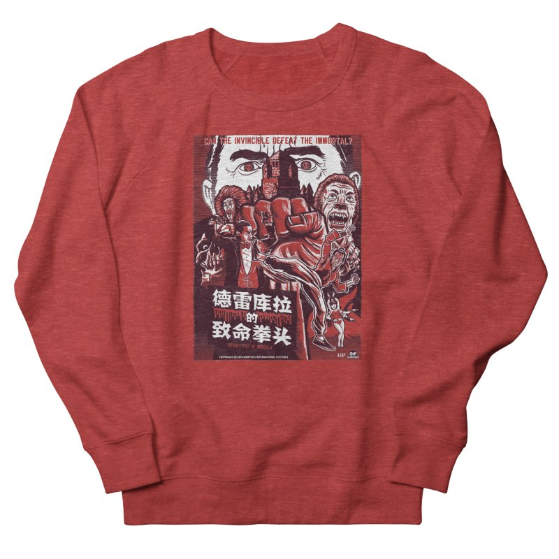 DEADLY FIST OF DRACULA Men's French Terry Sweatshirt by Gimetzco's Damaged Goods