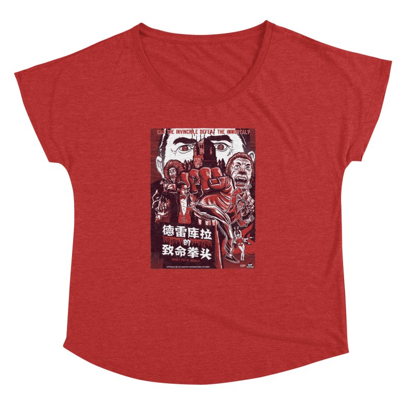 DEADLY FIST OF DRACULA Women's Dolman Scoop Neck by Gimetzco's Damaged Goods