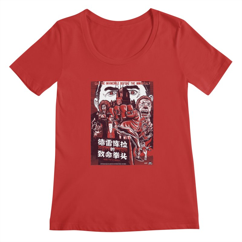 DEADLY FIST OF DRACULA Women's Regular Scoop Neck by Gimetzco's Damaged Goods