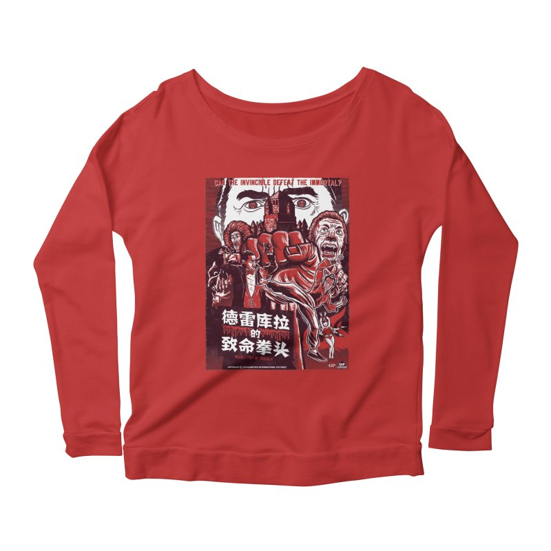 DEADLY FIST OF DRACULA Women's Scoop Neck Longsleeve T-Shirt by Gimetzco's Damaged Goods