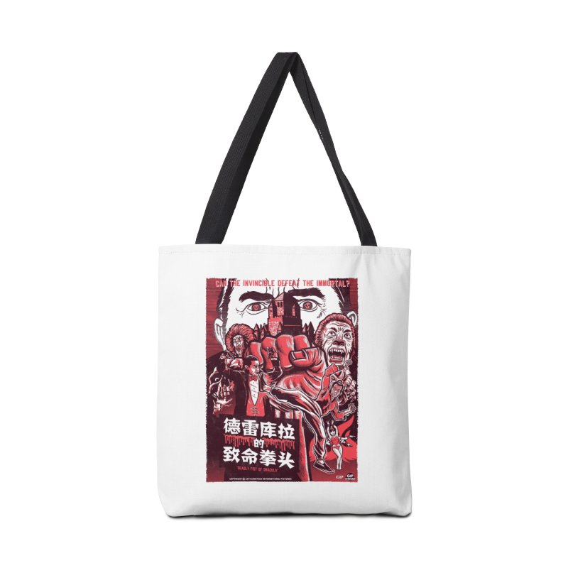 DEADLY FIST OF DRACULA (light shirt variant) Accessories Bag by Gimetzco's Damaged Goods