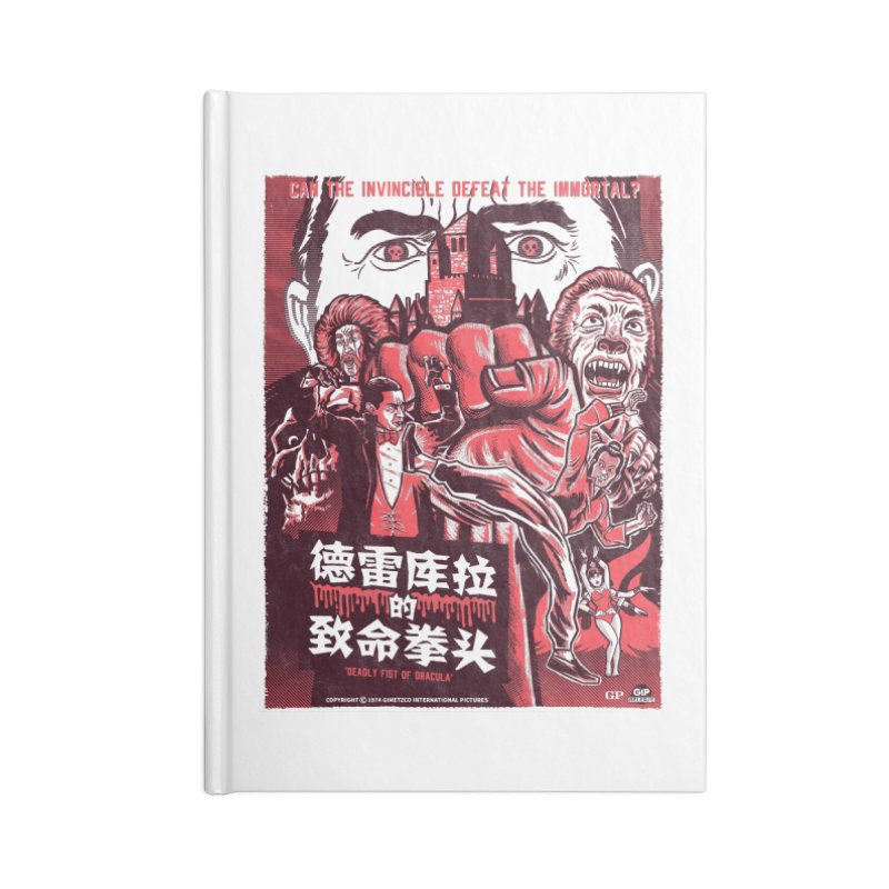 DEADLY FIST OF DRACULA (light shirt variant) Accessories Notebook by Gimetzco's Damaged Goods