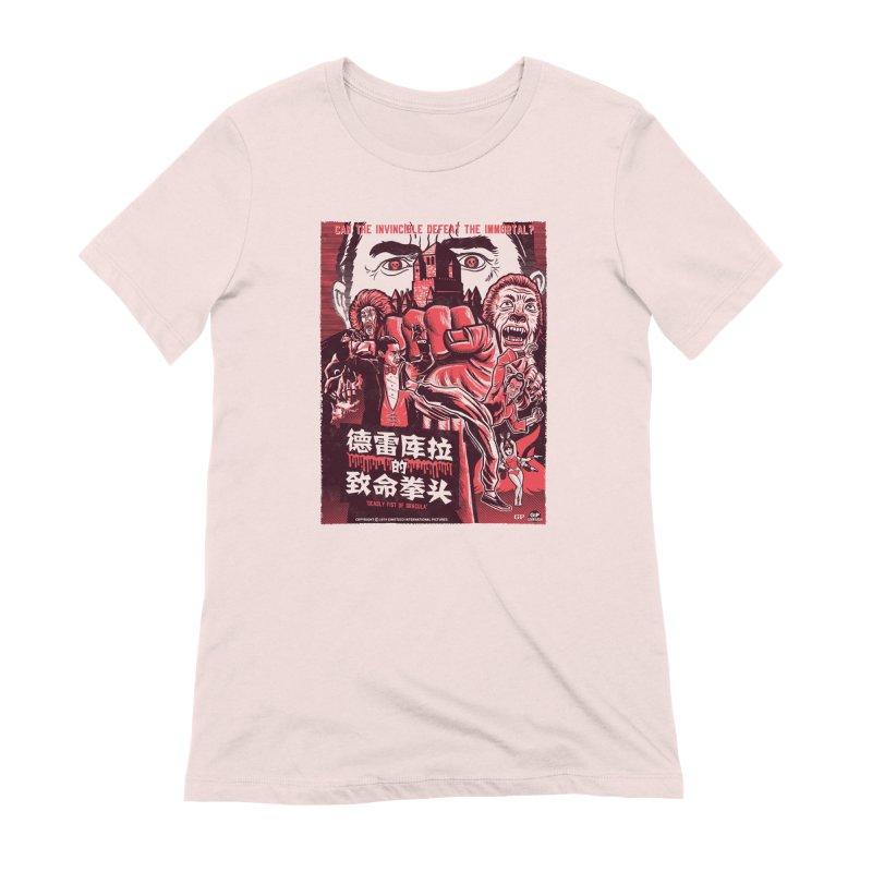 DEADLY FIST OF DRACULA (light shirt variant) Women's Extra Soft T-Shirt by Gimetzco's Damaged Goods