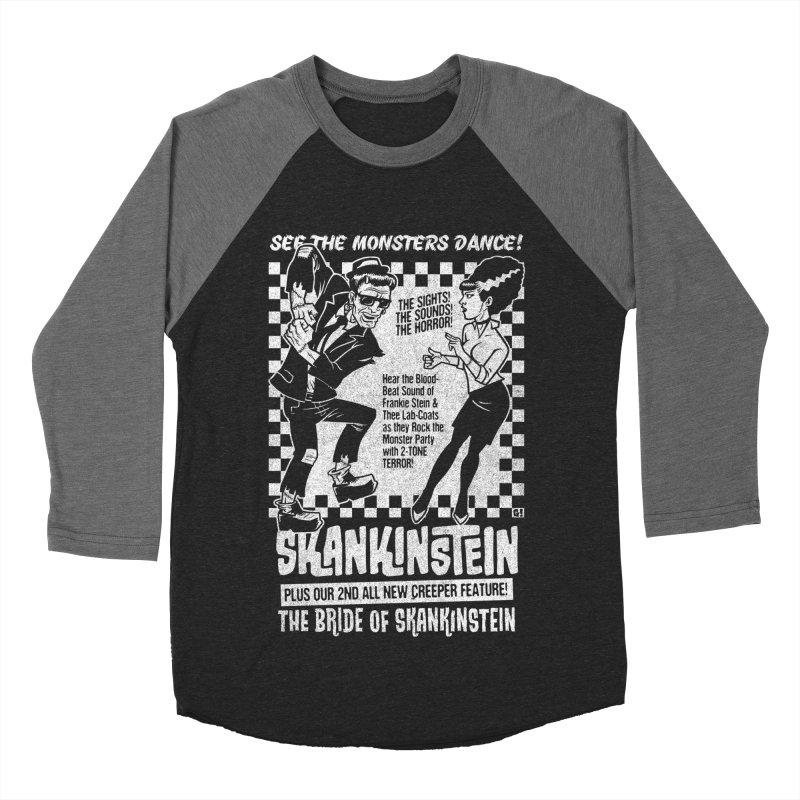 Skankinstein Women's Baseball Triblend Longsleeve T-Shirt by Gimetzco's Damaged Goods