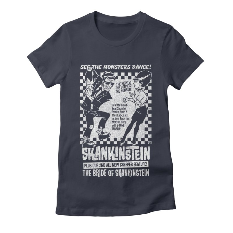 Skankinstein Women's Fitted T-Shirt by Gimetzco's Damaged Goods