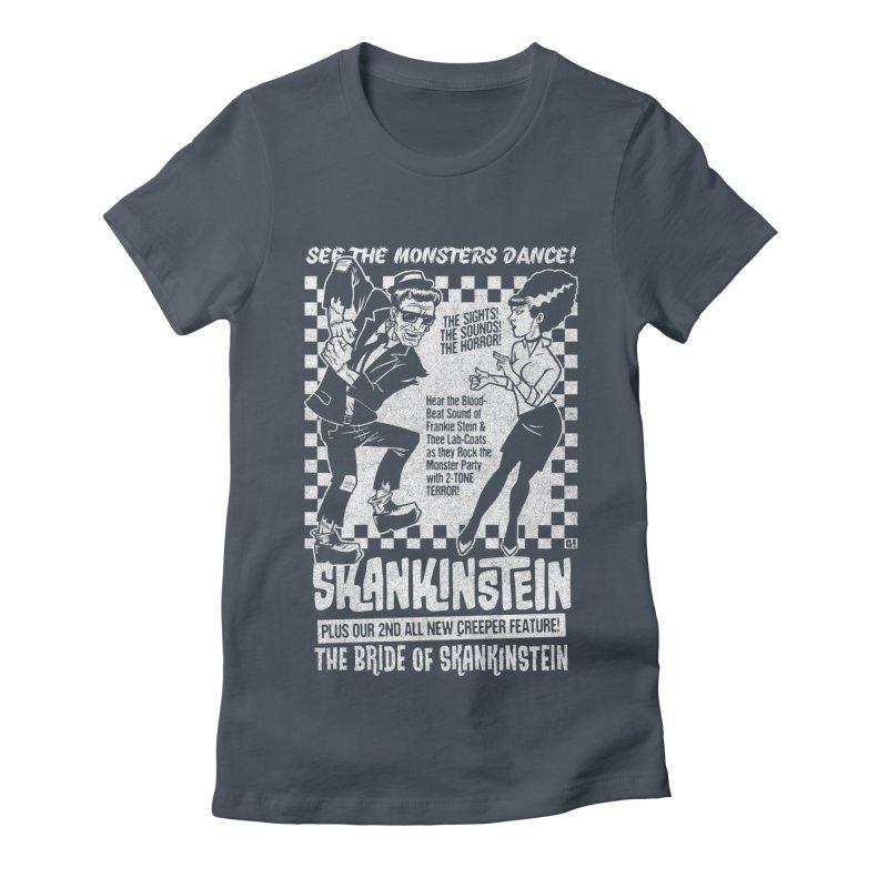 Skankinstein Women's Fitted T-Shirt by Gimetzco's Damaged Goods