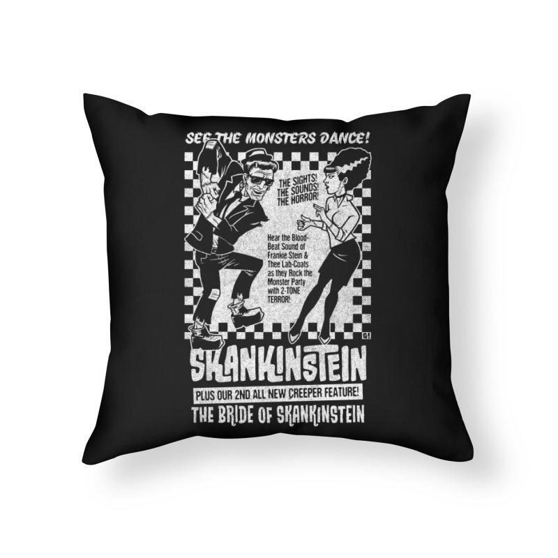 Skankinstein Home Throw Pillow by Gimetzco's Damaged Goods