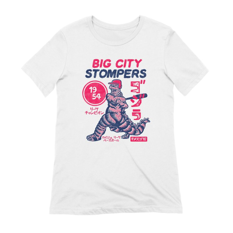 BIG CITY STOMPERS Women's Extra Soft T-Shirt by Gimetzco's Damaged Goods