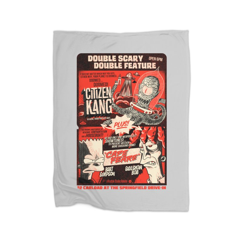Double scary Double feature Home Fleece Blanket Blanket by Gimetzco's Damaged Goods