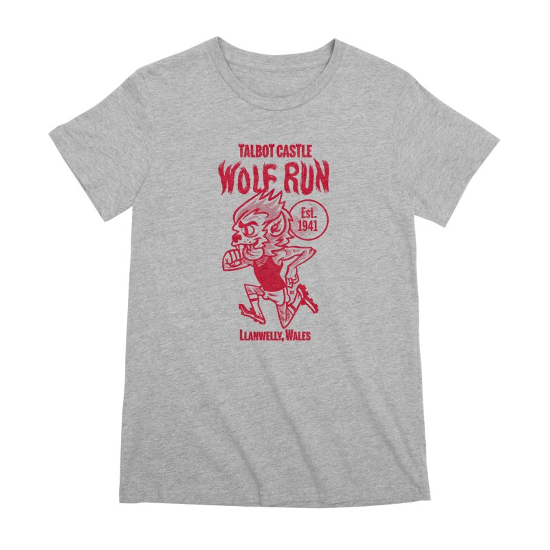talbot castle wolf run Women's Premium T-Shirt by Gimetzco's Damaged Goods