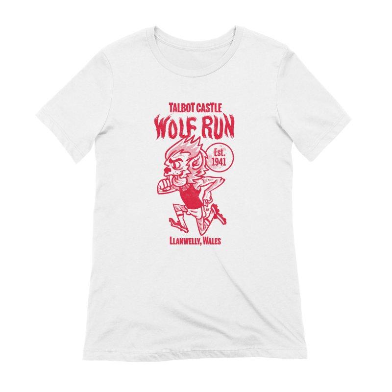 talbot castle wolf run Women's Extra Soft T-Shirt by Gimetzco's Damaged Goods