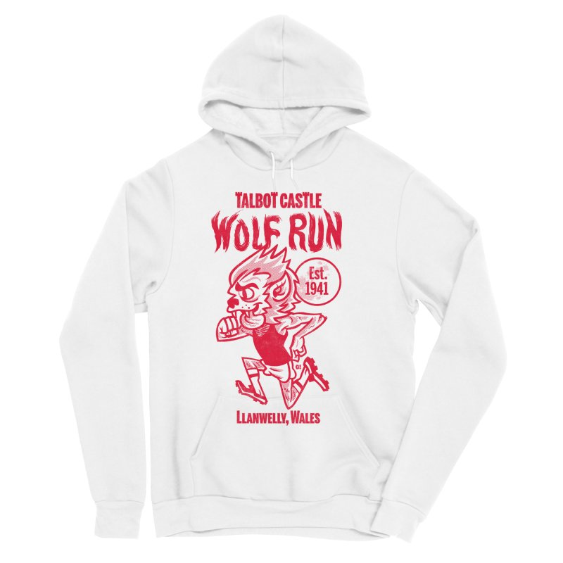 talbot castle wolf run Men's Sponge Fleece Pullover Hoody by Gimetzco's Damaged Goods