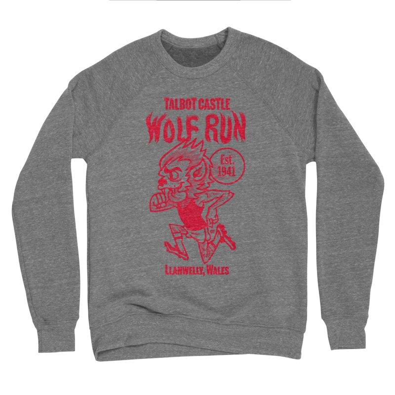 talbot castle wolf run Men's Sponge Fleece Sweatshirt by Gimetzco's Damaged Goods