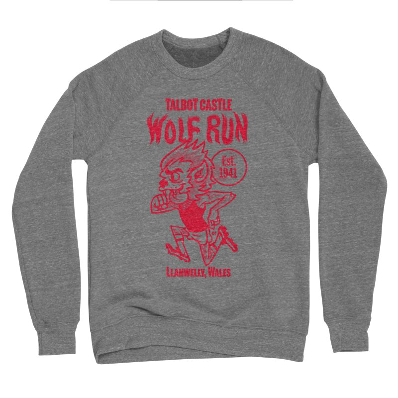 talbot castle wolf run Women's Sponge Fleece Sweatshirt by Gimetzco's Damaged Goods