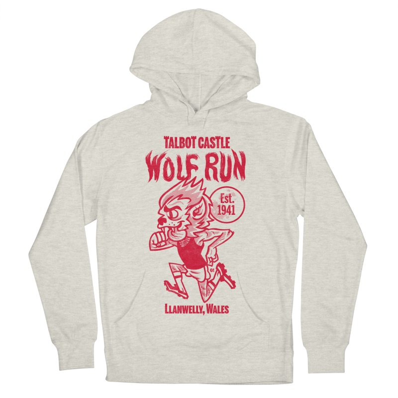 talbot castle wolf run Women's French Terry Pullover Hoody by Gimetzco's Damaged Goods