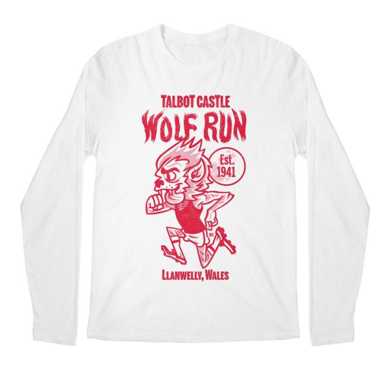 talbot castle wolf run Men's Regular Longsleeve T-Shirt by Gimetzco's Damaged Goods