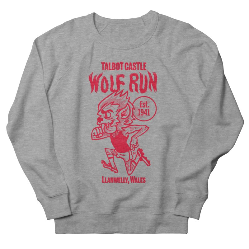 talbot castle wolf run Men's French Terry Sweatshirt by Gimetzco's Damaged Goods