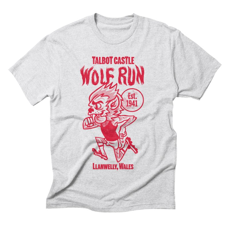 talbot castle wolf run Men's Triblend T-Shirt by Gimetzco's Damaged Goods