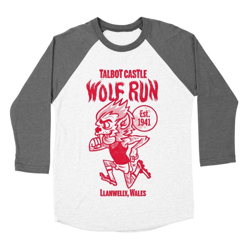 talbot castle wolf run Women's Baseball Triblend Longsleeve T-Shirt by Gimetzco's Damaged Goods