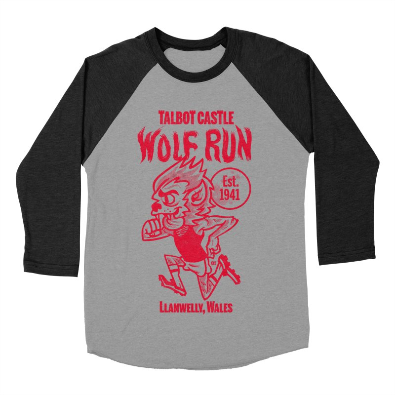 talbot castle wolf run Men's Baseball Triblend Longsleeve T-Shirt by Gimetzco's Damaged Goods