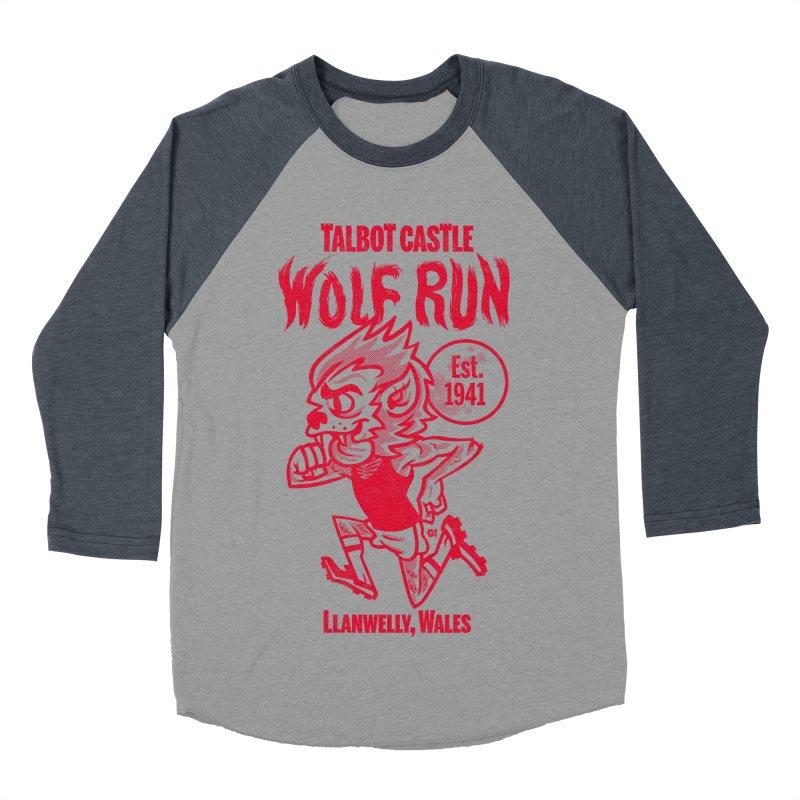 talbot castle wolf run Men's Baseball Triblend Longsleeve T-Shirt by Gimetzco's Damaged Goods