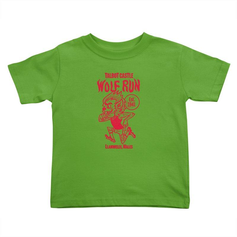 talbot castle wolf run Kids Toddler T-Shirt by Gimetzco's Damaged Goods