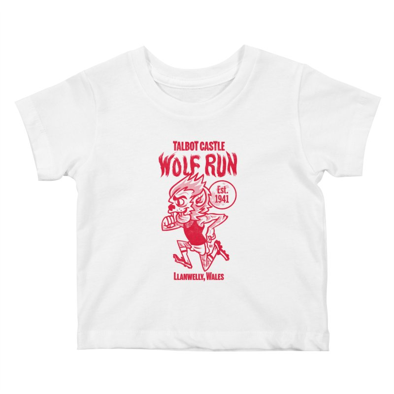 talbot castle wolf run Kids Baby T-Shirt by Gimetzco's Damaged Goods