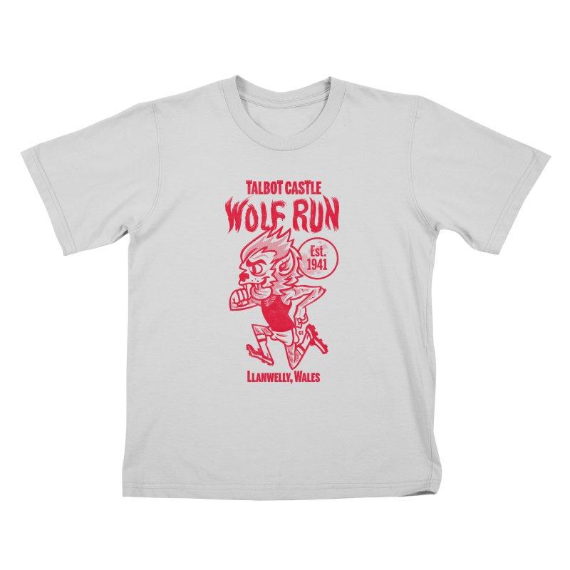 talbot castle wolf run Kids T-Shirt by Gimetzco's Damaged Goods