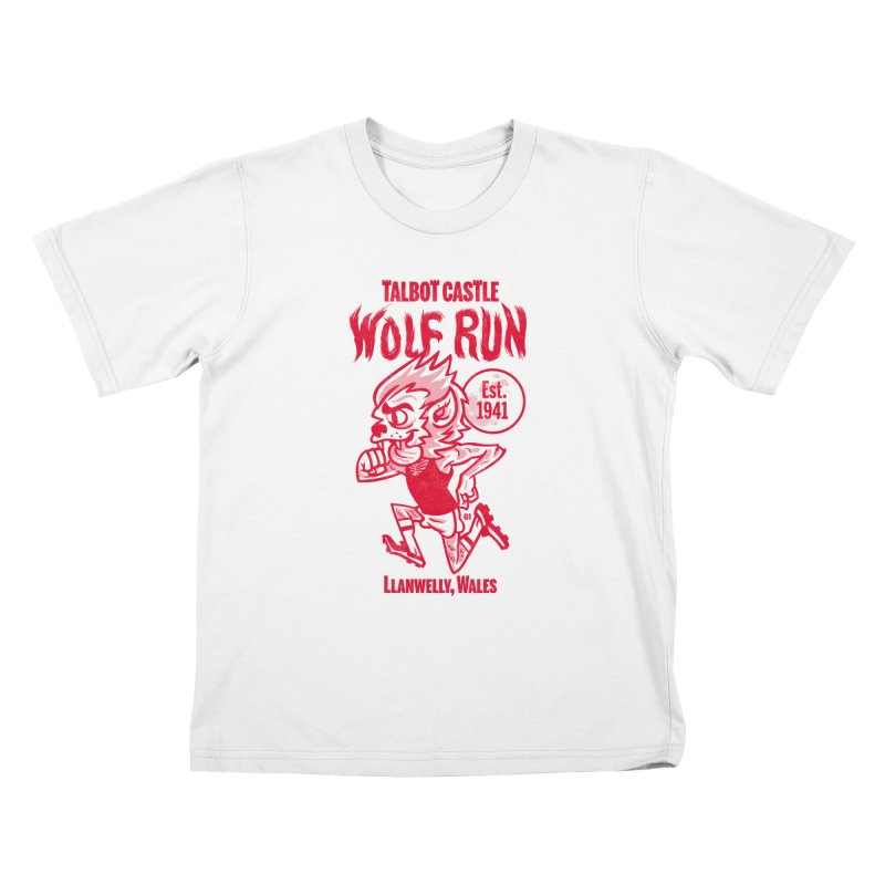 talbot castle wolf run Kids T-Shirt by Gimetzco's Damaged Goods