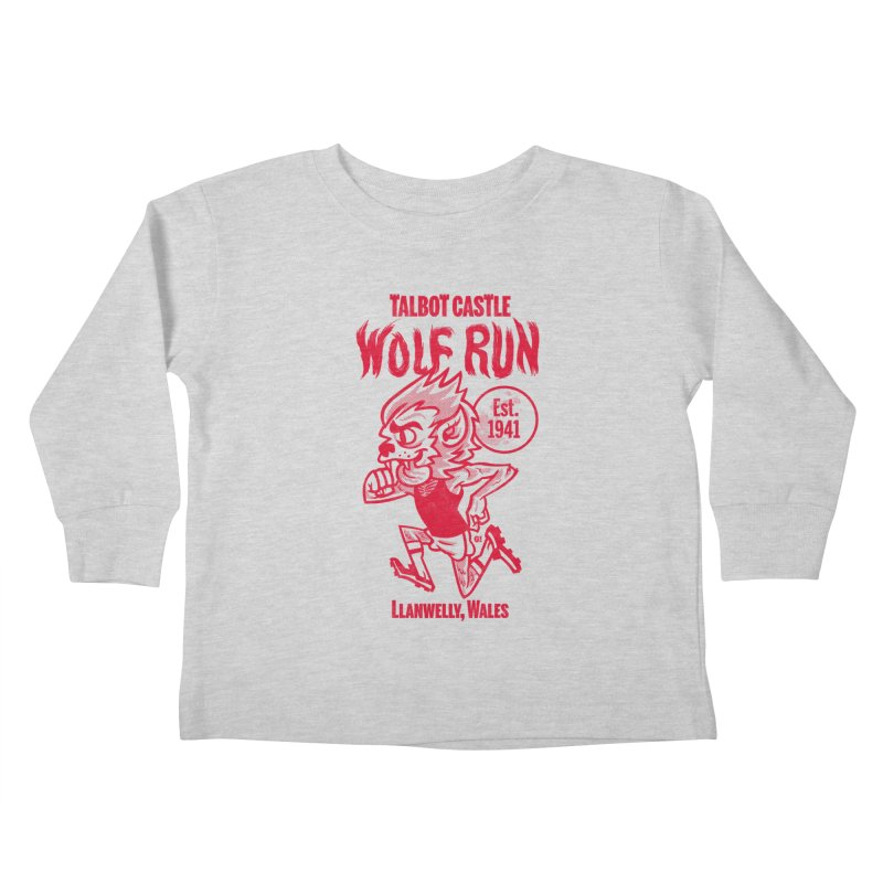 talbot castle wolf run Kids Toddler Longsleeve T-Shirt by Gimetzco's Damaged Goods