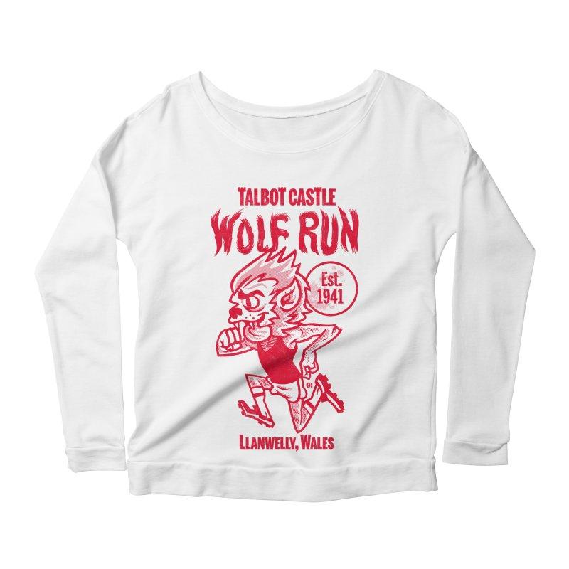 talbot castle wolf run Women's Scoop Neck Longsleeve T-Shirt by Gimetzco's Damaged Goods