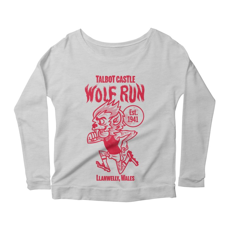talbot castle wolf run Women's Scoop Neck Longsleeve T-Shirt by Gimetzco's Damaged Goods