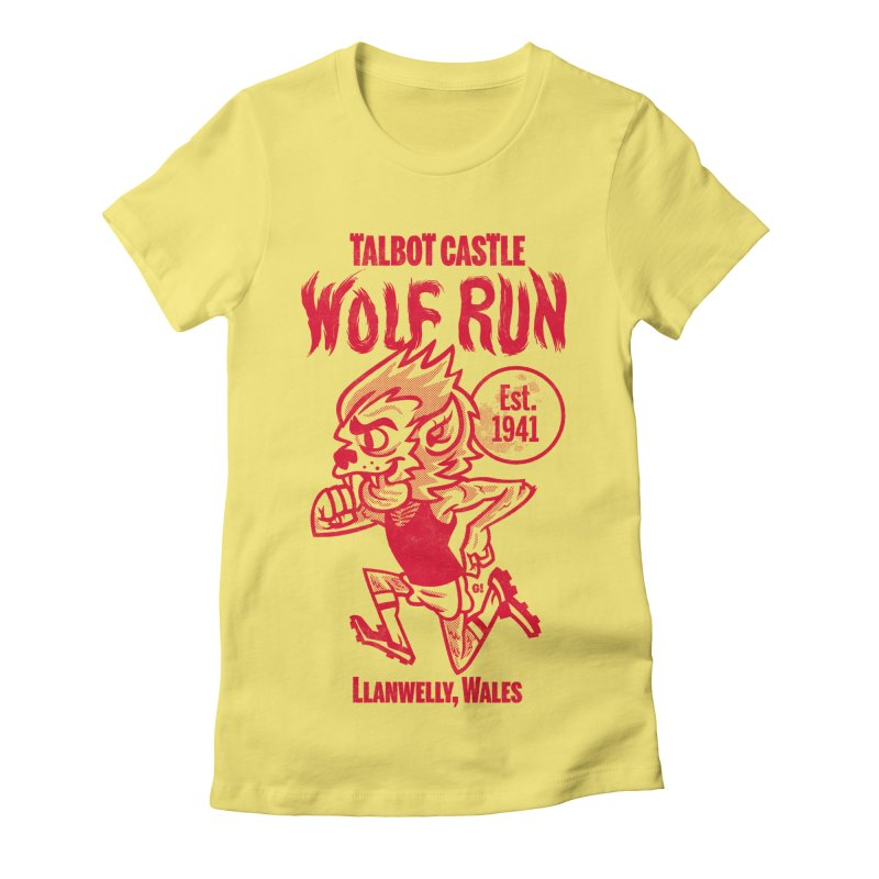 talbot castle wolf run Women's Fitted T-Shirt by Gimetzco's Damaged Goods