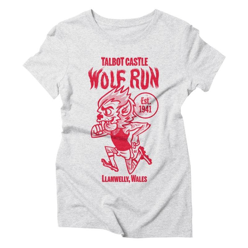 talbot castle wolf run Women's Triblend T-Shirt by Gimetzco's Damaged Goods