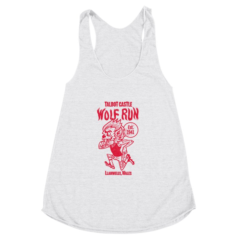 talbot castle wolf run Women's Racerback Triblend Tank by Gimetzco's Damaged Goods