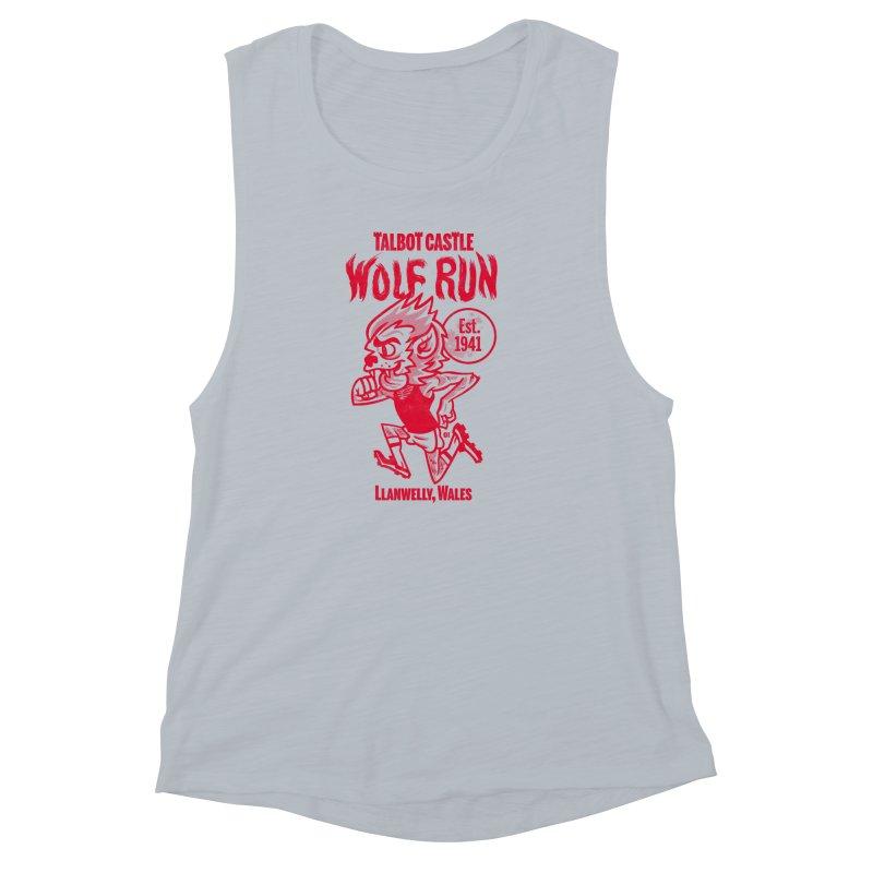 talbot castle wolf run Women's Muscle Tank by Gimetzco's Damaged Goods