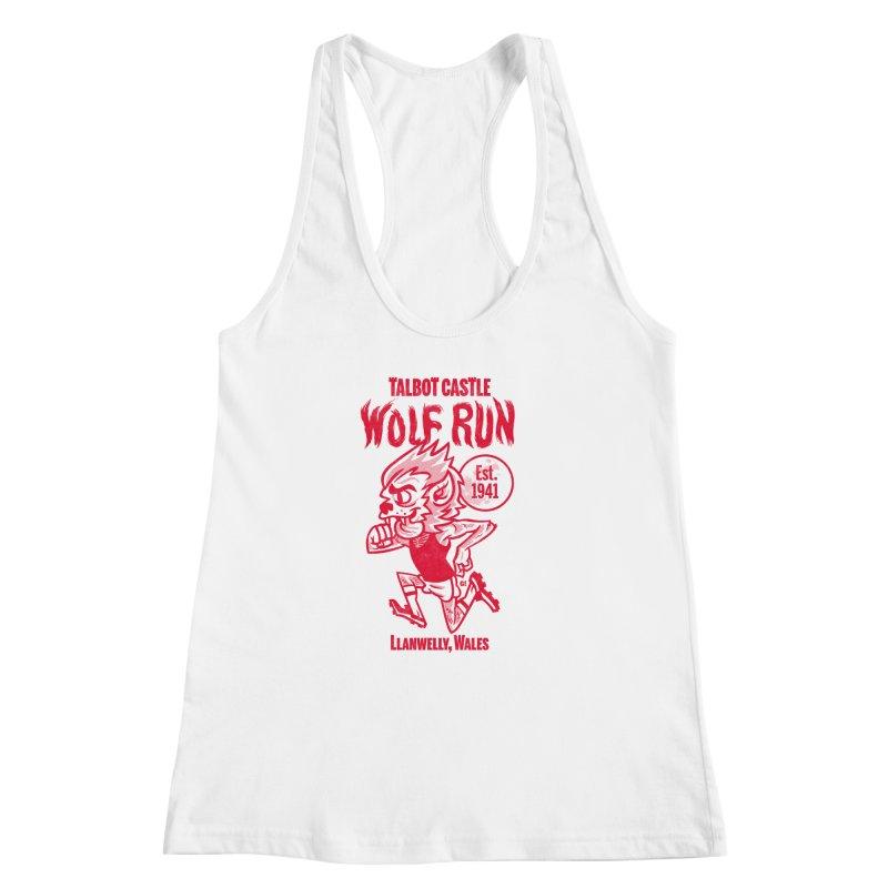 talbot castle wolf run Women's Racerback Tank by Gimetzco's Damaged Goods