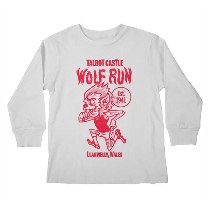 talbot castle wolf run Kids Longsleeve T-Shirt by Gimetzco's Damaged Goods