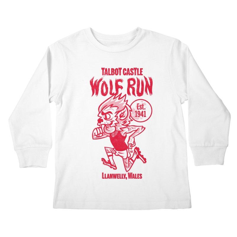 talbot castle wolf run Kids Longsleeve T-Shirt by Gimetzco's Damaged Goods