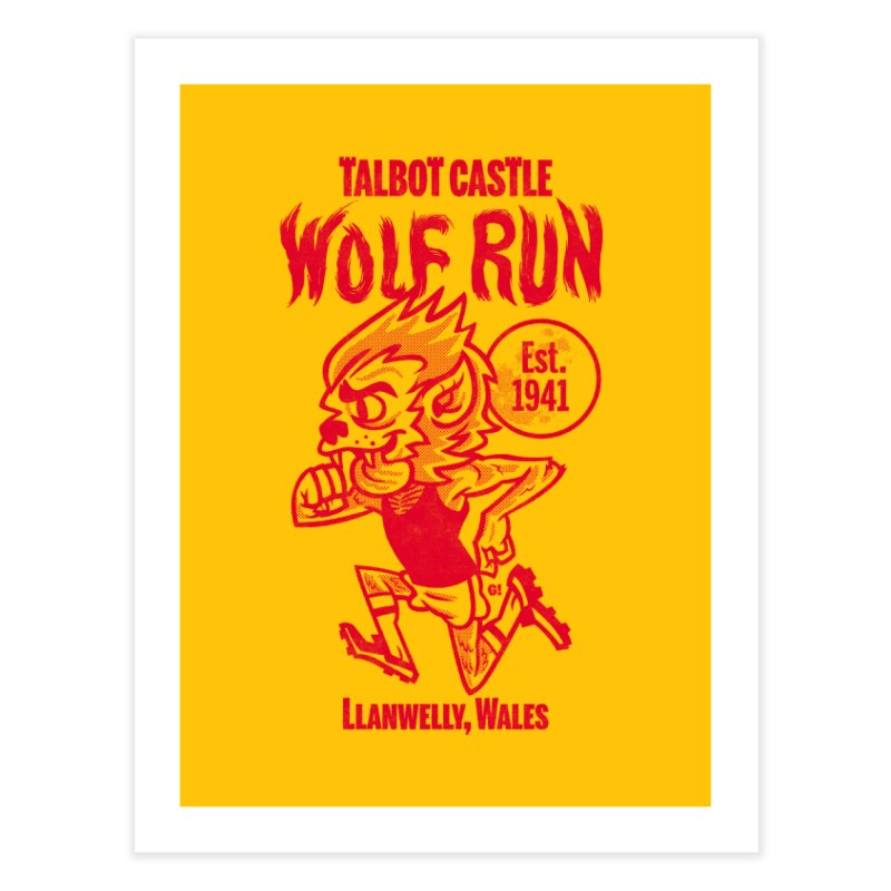 talbot castle wolf run Home Fine Art Print by Gimetzco's Damaged Goods