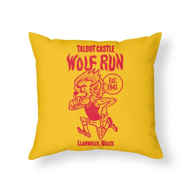 talbot castle wolf run Home Throw Pillow by Gimetzco's Damaged Goods